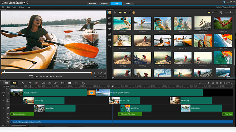 Corel Video Studio Ultimate gives you an easy-to-navigate interface