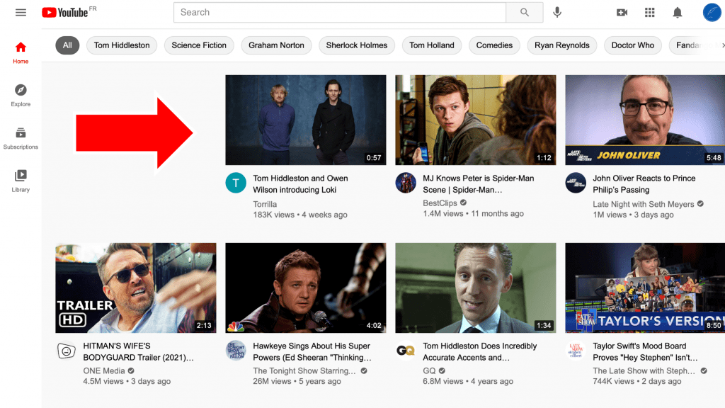 youtube's algorithm curates your site