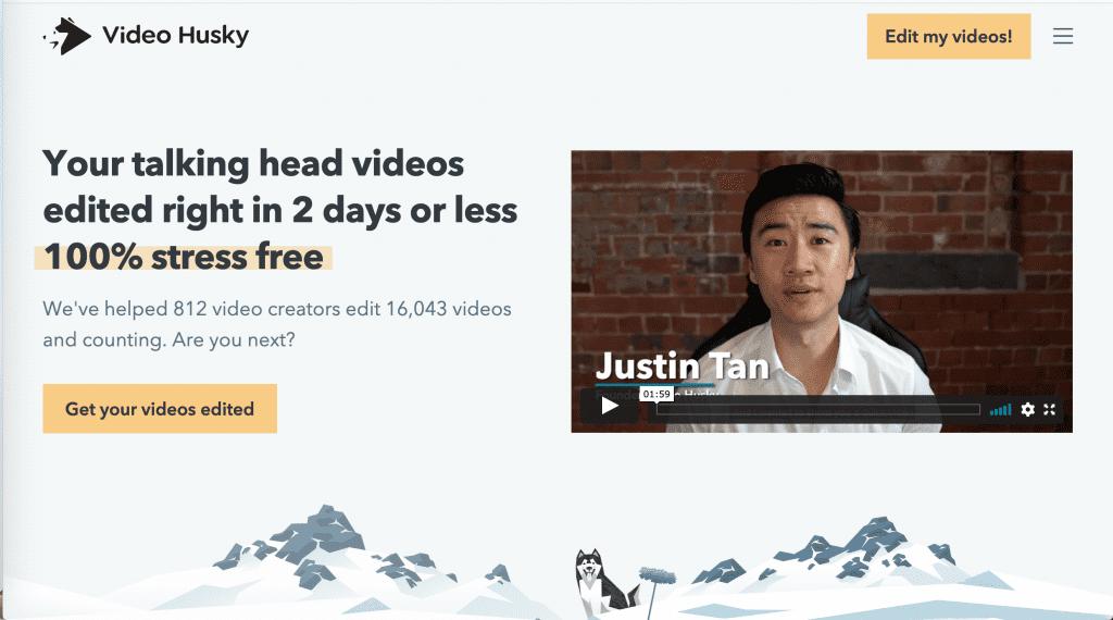 video husky website screenshot