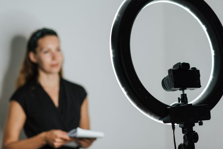 for indoor vlogging, you need good lights