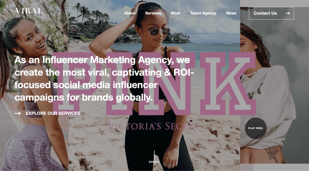 viralnation is an influencer talent agency