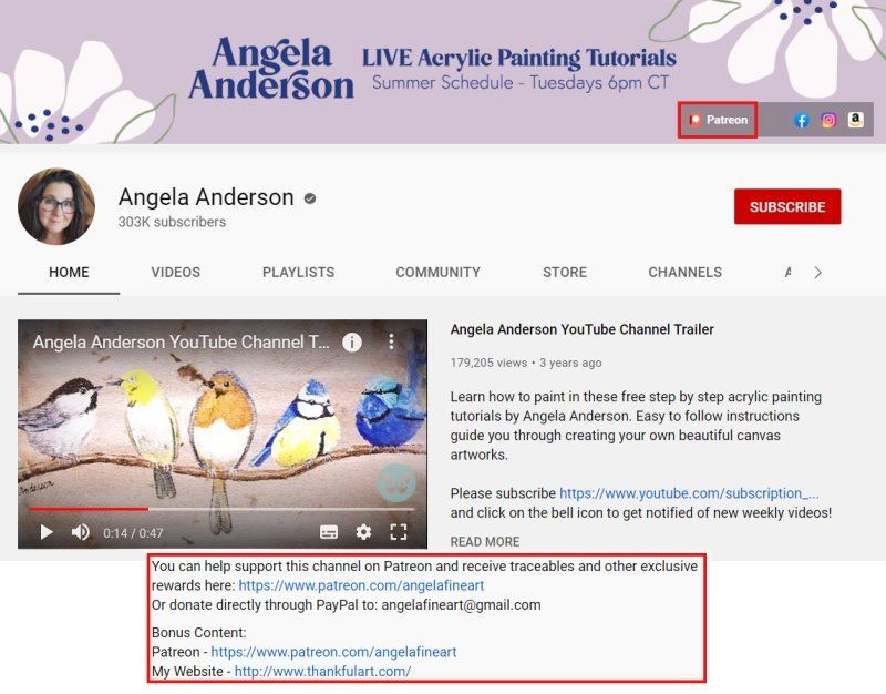angela anderson's youtube channel